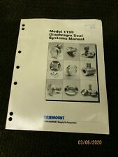 Rosemount Model 1199 Diaphragm Seal Systems Manual 00809-0100-4002 English