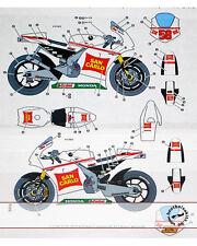 SIMONCELLI MELANDRI MOTO GP '10 DECAL for TAMIYA 1-12 HONDA RC211V