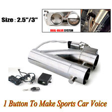 2.5'' 63mm Dual Valve Exhaust E-Cut Out Electric Y Pipe W/ Remote Kit   *//*