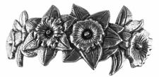 Daffodil Blooms Artisan Made Pewter Barrette Hair Clip by Oberon Design