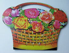 Basket of Flowers Sewing Kit: 10 Needles, Threader, Safety Pins - Retro Kitsch