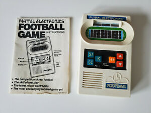 Handheld game: Mattel Electronics Football 1977 with instruction manual