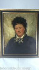 Portrait  signé GARRIDO Eduardo Léon, 1856-1949 (Espagne) huile sur toile++