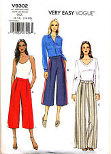 VOGUE SEWING PATTERN 9302 MISSES SZ 6-22 VERY EASY SEMI-FITTED CULOTTES / PANTS