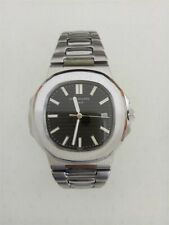 Authentic *PATEK-PHILIPPE* GENEVE MEN'S watches Black Dial Stainless Steel