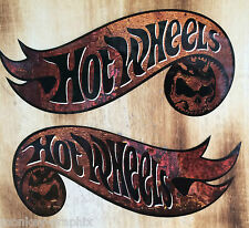 "2xxl Old School Sticker ""Hotwheels Rusty"" Retro rouille Autocollant Biker Vintage v8"