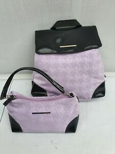 Unicco Small Back Pack with inner clutch bag in Pink