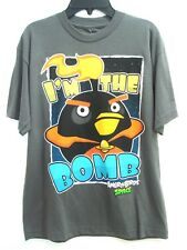 """Angry Birds Space """" I'M The Bomb """" Gray Boy's Tee T-Shirt Size YL (14-16)"""
