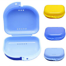 Dental Orthodontic Retainer Denture Storage Case Box Mouthguard Container FW