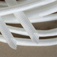 1M White Fibreglass Sleeving High Temperature Fiber Glass Tube Dia 1mm~8mm