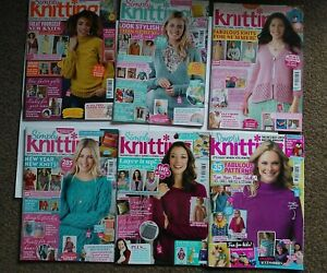 6 x Simply Knitting Magazines 168 182 207 210 211 213 Toys Blankets Clothing +