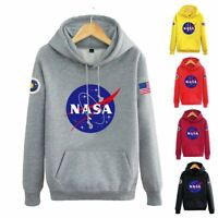 Men Women Sweatshirts Hooded Coat Jacket Sweater Hoodies Outwear NASA Pullover