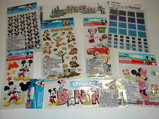 Scrapbook Disney Land MICKEY MINNIE MOUSE VACATION lot #4 Sticker 50%OFF*FREESh