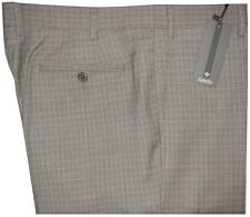 $345 NWT ZANELLA ITALY NORDSTROM DEVON TAN BROWN HOUNDSTOOTH PLAID 130 PANTS 36
