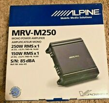 New listing Alpine Mrv-M250 Compact Mono Car Amp, V-Power Digital Amplifier 250 Watt Rms New