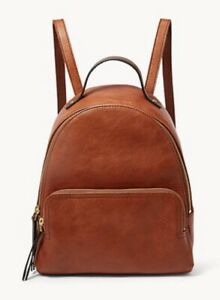 FOSSIL FELICITY BACKPACK IN BRANDY LEATHER BNWT RRP £149