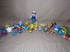 Tomy Pokemon Figures Lot of 28 Merill Ash Pikachu Eevee Arbok Seel Hoot Chansey