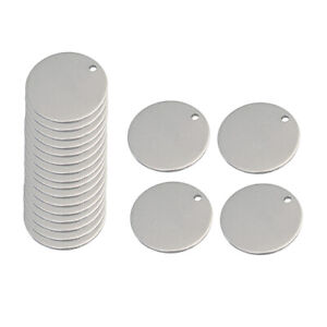 20 Pieces Metal Flat Round Circle Blank Coin Stamping Charms Tag Pendants