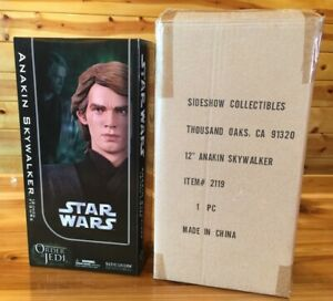 "Sideshow Anakin Skywalker 12"" Star Wars Action Figure Order Of The Jedi Nice Box"