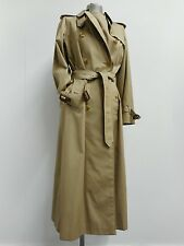 Classic vintage Burberrys' gabardine mac full length coat with check lining UK10