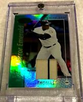 FRANK THOMAS 2002 LEAF CERTIFIED JERSEY PATCH MIRROR EMERALD FOIL #3/5 WHITE SOX