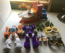 Rescue Bots High Tide Red Boat Transformers Blades,Walker Cleveland & Jackhammer