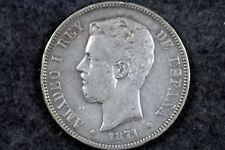 New listing 1871 - 5 Pesetas Silver coin! #H3007
