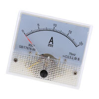 DC 0-20A Analog Amp Meter Ammeter Current Panel Ampere Meter 85C1 Class 2.5