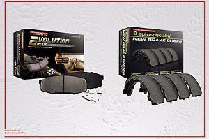 Ceramic Front Brake Pads with Hardware & Rear Brake Shoes Fit Infiniti QX4 97-03