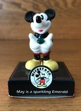 Disney Enesco Mickey Mouse May Birthstone Month Figurine Emerald 2""