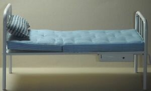 Doll miniature handcrafted Medical Bed Hospital White Metal 1920 1/12th scale