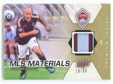 """CONOR CASEY """"2 COLOR PATCH CARD #18/35"""" UD MLS SOCCER 2012"""
