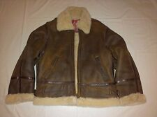 Giacca Aviatore Pelle Montone SHEARLING Aviator Jacket Made in Italy TgL *NUOVA*