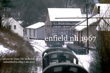 Boston & Maine RR  train &freight house  Enfield NH  1967