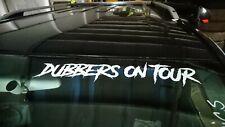 """DUBBERS ON TOUR"" WINDSCREEN STICKER DECAL SUIT VW T5 T4 T25 T2 T5 GOLF CAMPER"