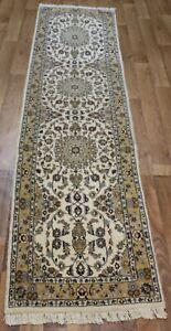 Fine Handmade Persian Nain Runner, Fine Weave & Superb Colours 270 x 60 cm