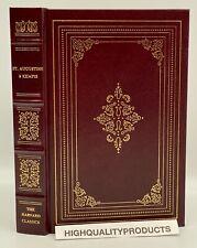 Grolier Harvard Classics CONFESSIONS OF ST. AUGUSTINE IMITATION OF CHRIST Leathr