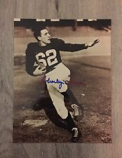 Charley Trippi Georgia Bulldogs Cardinals Signed Vintage B&W Glossy 8x10 Photo