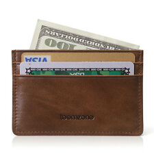 Mens Leather Money Clip Slim Wallet ID Credit Card Holder Storage Case