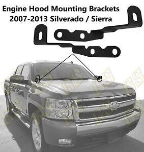 NEW Engine Hood LED Mount Brackets for 2007 - 2013 Chevy Silverado / GMC Sierra