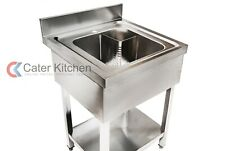 More details for stainless steel single bowl commercial sink for restaurants & catering