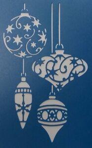 Scrapbooking - STENCILS TEMPLATES MASKS SHEET - Christmas-Baubles Stencil