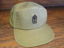 15330 US Army Vietnam Military OG  Hot Weather Field Cap w SGT rank  Size 7 3/8