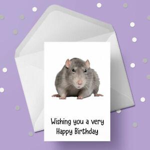 Rat 05 Birthday Card - Free 1st class postage