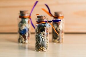 Samhain/Halloween Offering Vial, Herbs, Flowers and Fruits, Wicca, Yorkshire