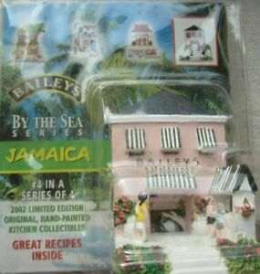 Rare #4 of 4, 'Bailey's By The Sea Series' 2002 Jamaica Figurine Collectible NIP