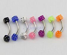 Lot de 7 piercing SOURCIL ARCADE Acier chirurgicale Mix couleur HG