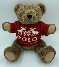 1998 Ralph Lauren Polo Bear Plush Stuffed Limited  Christmas 90s Jointed Vtg P