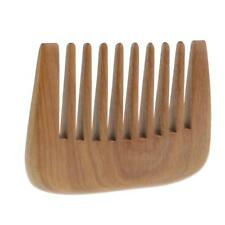 Pocket Comb Wood Afro Pick Wide Tooth Hair Comb Handmade Green Sandalwood