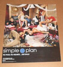 Simple Plan No Pads, No Helmets…Just Balls Poster Original Promo 18x21.5